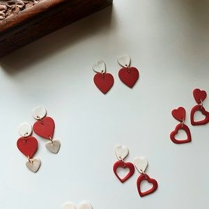 Accessories - Polymer Clay Earrings - HEART